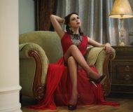 שמלת ערב אדומה שיקית